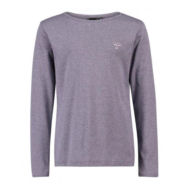 Hummel BASE Shirt - Grau/Lilameliert mit lockmuster