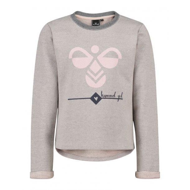 Hummel LAURAH Sweatshirt - Graumeliert mit Logo
