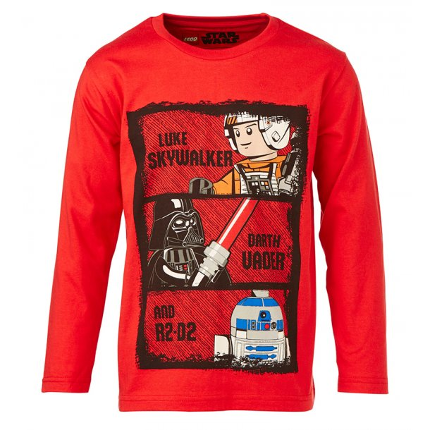 LEGO Wear - Schönes rotes Shirt mit STAR WARS