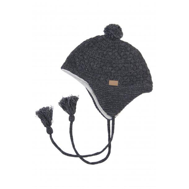 Anthrazitgrau Mütze aus Wolle - Von Melton