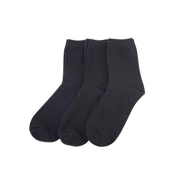 Melton 3 Pack Socken in schwarz