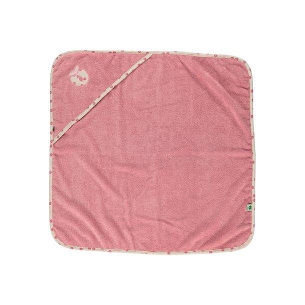 Smafolk - LRosa Baby Handtuch mit Apfel Einfassungen