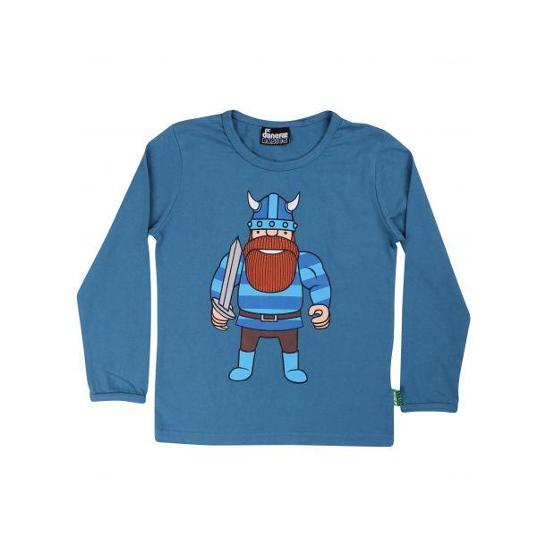 Danefae - Basic Shirt in frischer Blaue Farbe - mit
