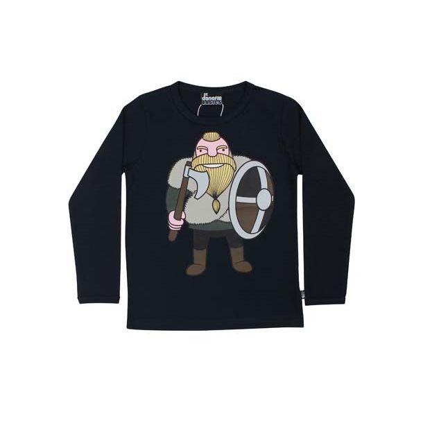 Danefae - Basic Shirt in Navy - mit Wikinger Harald