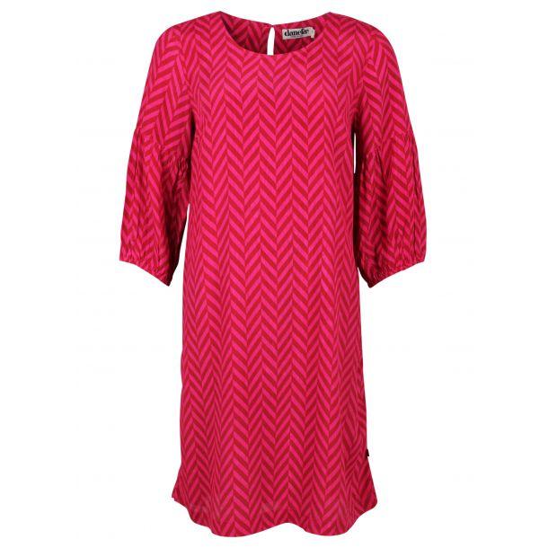 Danefae - CARAMELLA Dress - schönes Kleidin Rost/Hot Pink