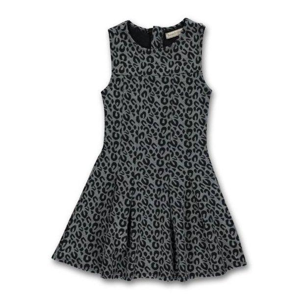 Süßes Kleid in grau mit Leopard Muster