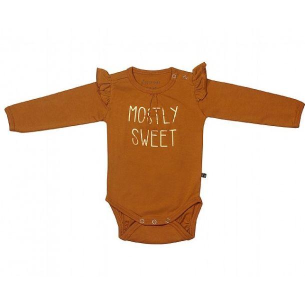 Kids Up Baby - Body mit Glitzer Drück - Mount Gold, Bio