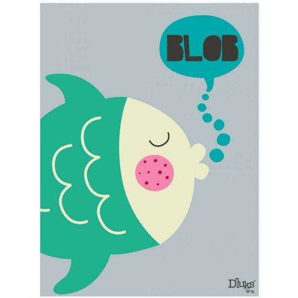 D' luks by us Bild mit schlafende Fisch, 18x24 Cm