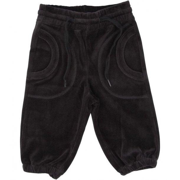 Katvig skønne baggy bukser i øko velour, sort