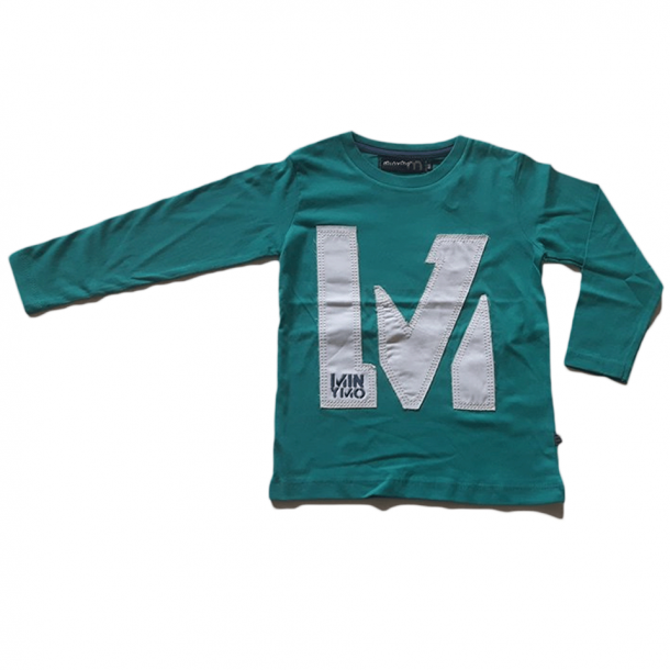 Minymo - Shirt in grün mit weiss