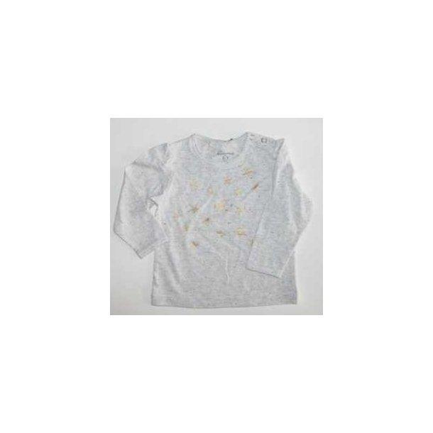Hübsches creme-meliertes LA-Shirt mit Sternchen