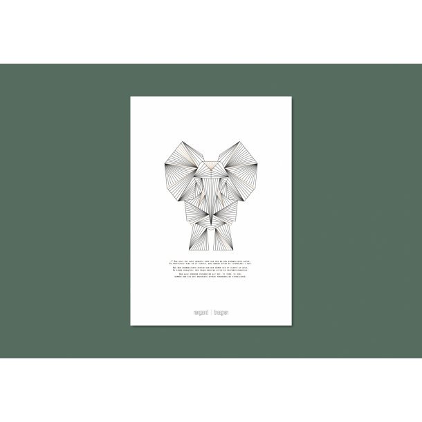 Nørgaard   Nørgaard - Die Elefant, A3 Plakat