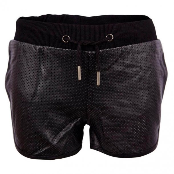Schwarze Leder-look West Shorts - Von Frankie & Liberty