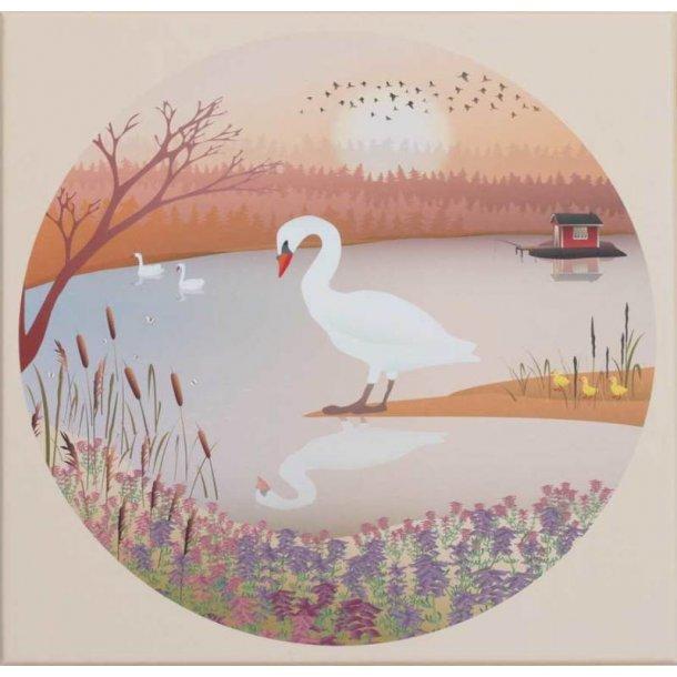 ViSSEVASSE -The Swan puzzle - 1000 pieces, round