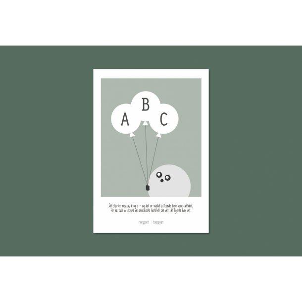 Nørgaard | Nørgaard - Grün ABC Plakat, A4