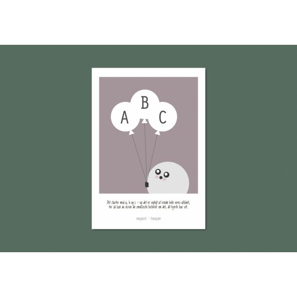 Nørgaard | Nørgaard - Lila ABC Plakat, A4