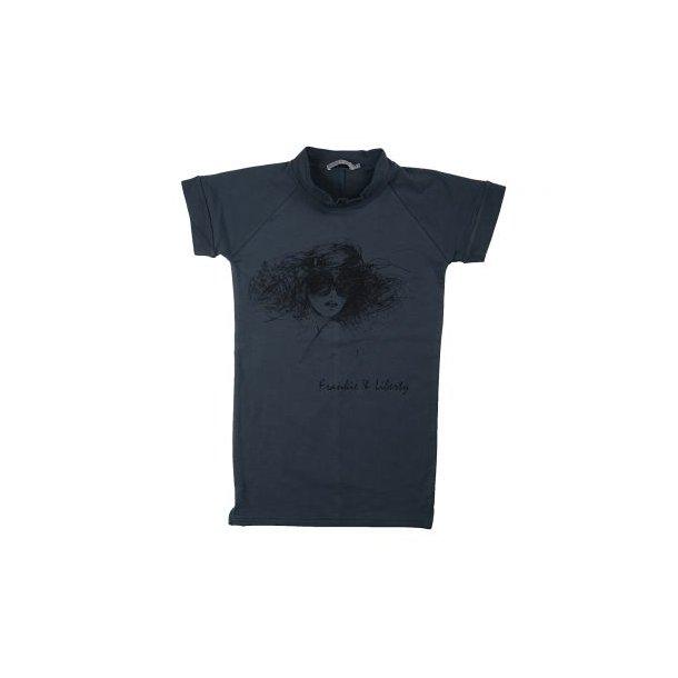 Frankei & Liberty - T-Shirt, Maggie Top, in dunkel grün Sweat mit Druck