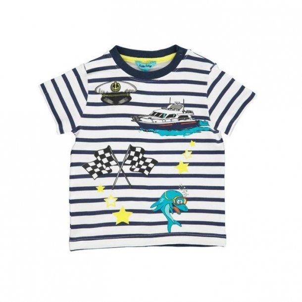 Happy Calegi BEN T-Shirt, Navy-Weiß gestreiften