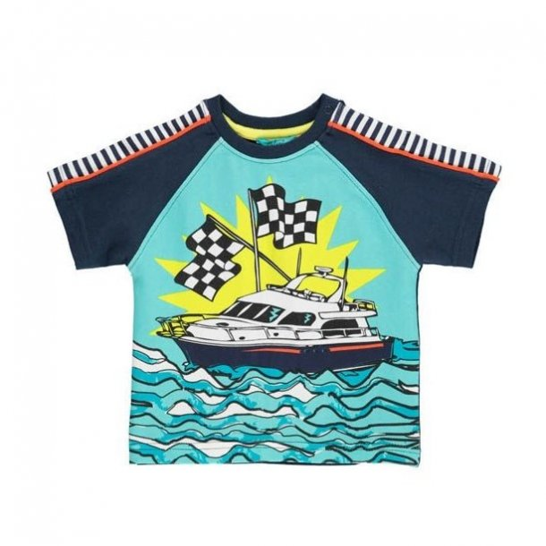 Happy Calegi BO T-Shirt mit Rennboot