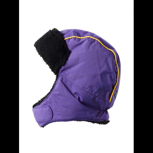 Retro Ohrenklappe Hut mit Pelz, Lila und gelb
