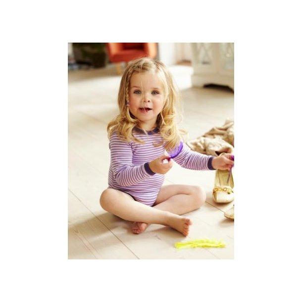 Lila weiß gestreiften Body aus Wolle/Baumwolle
