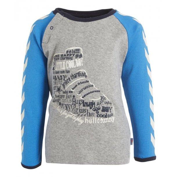 Cooles T-Shirt in Grau mit Weiss Winkeln