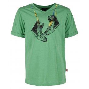 4ae2201d068 JANO SS TEE, T-Shirt, grøn med skønt print fra Hummel