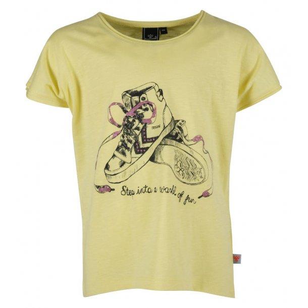 BIBBI TEE, gelb T-Shirt mit eine schöne Printe von Hummel