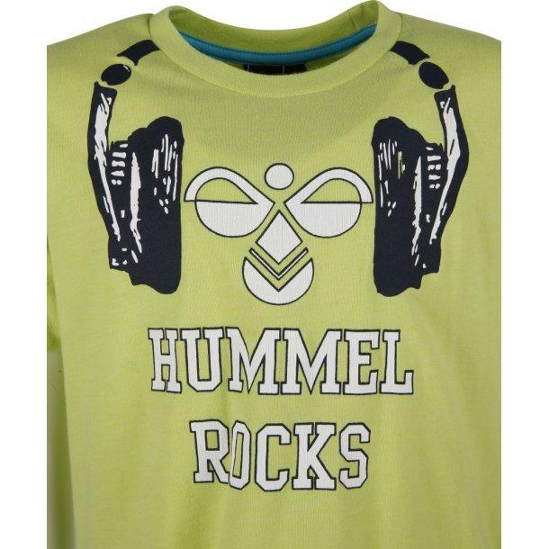 HAUGE TEE, grün T-Shirt mit eine schöne Printe von Hummel