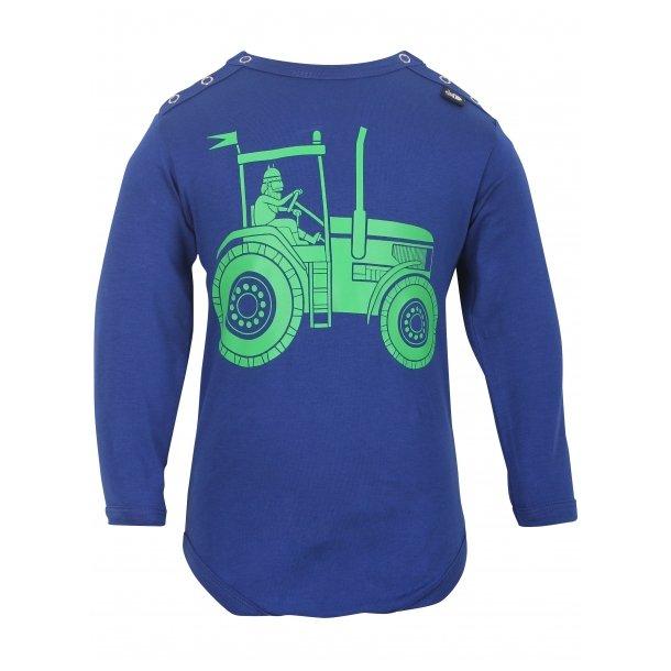 Tolle blauen Body mit grünen Traktor