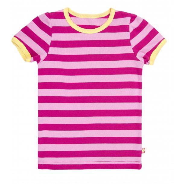 Shirt in Rose gestreiftes Bio Baumwolle