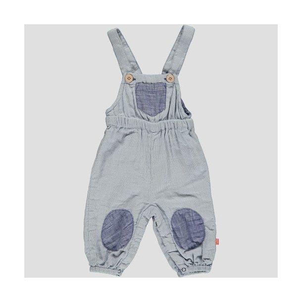 Overall für Baby in hellblau - weiss Streifen