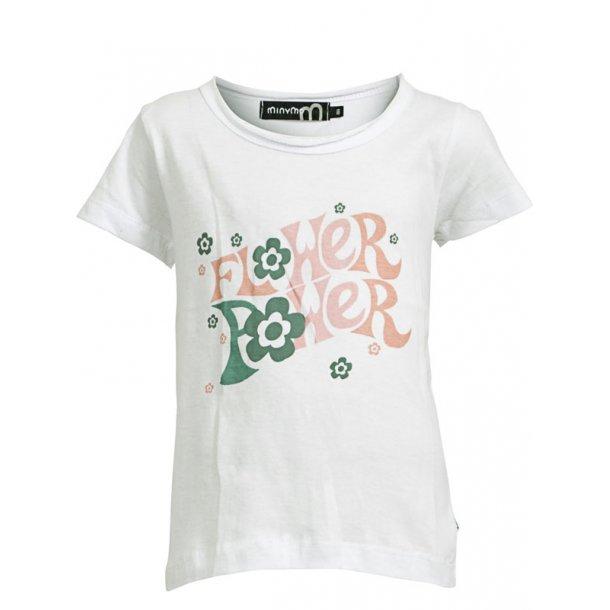 T-Shirt mit Print, weiss