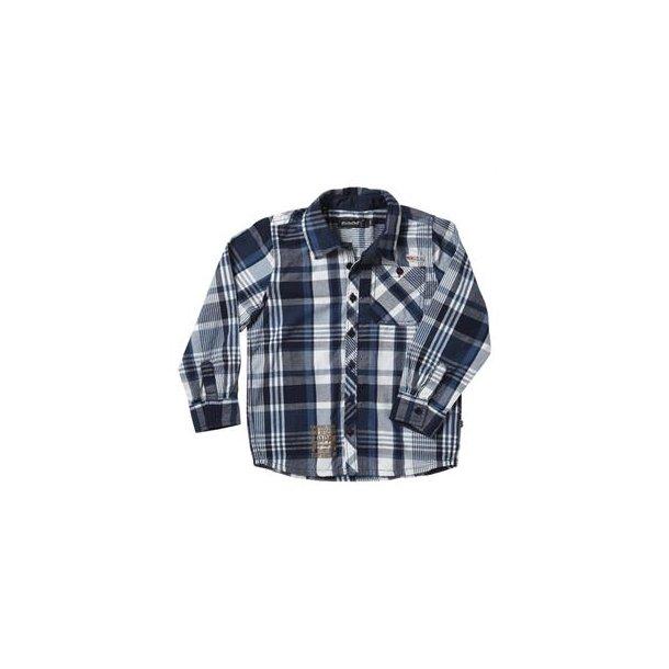Blau-weiß kariertes Hemd