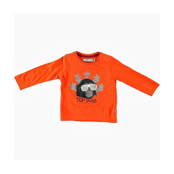 Cool orange  Baby Shirt mit Print