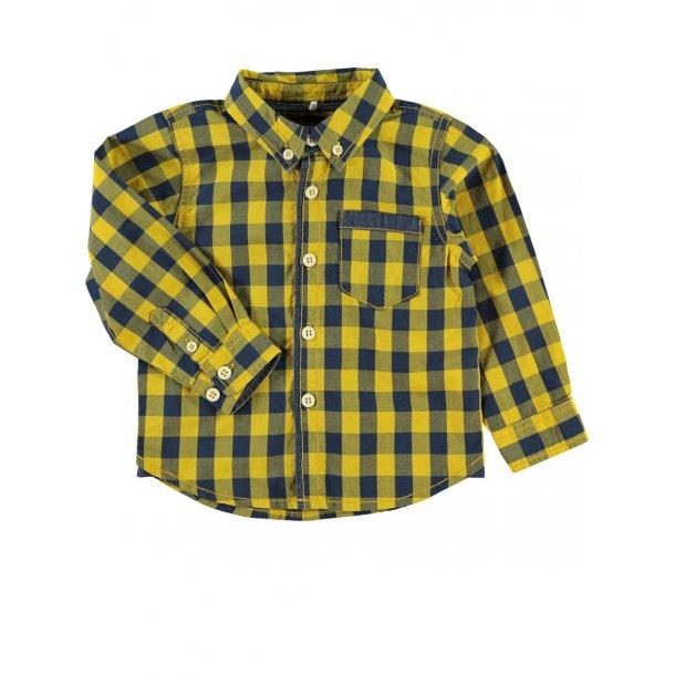 SPAREN! MINI NITPICKON Hemd gelb und navy von Name it - Set Preis: sieht das Angebot unten