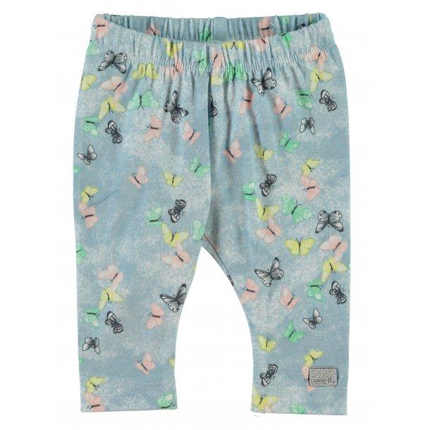 Süße Leggings in hellblau mit Schmetterlingen von Name it