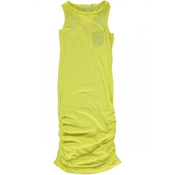 Schönes lange Kleid in neon Gelb - INOLLY KIDS TANK DRESS 215 - von Name it