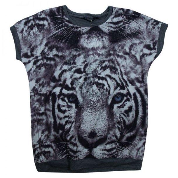 Oversize T-shirt mit eine Tiger