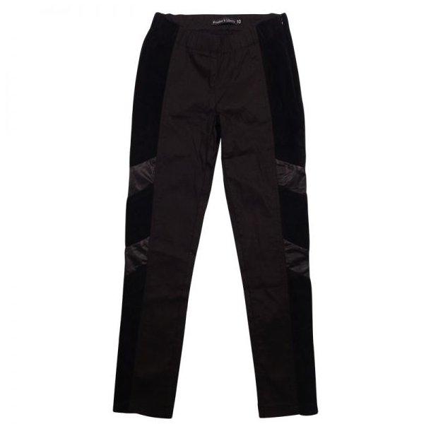 Tolle Hosen mit Leder und Streckevelours
