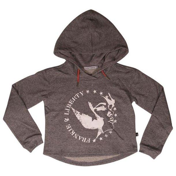 Tolle Sweatshirt in grau mit Logo vorne von Frankie & Liberty