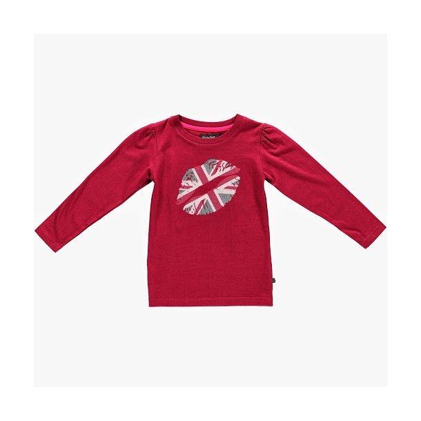 Hübsche dunkel rote LA T-Shirt mit Print