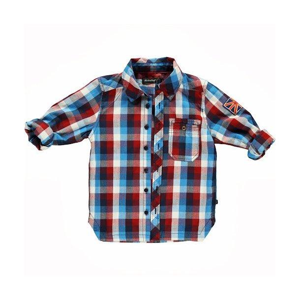 Blau-weiß-rot  kariertes Hemd