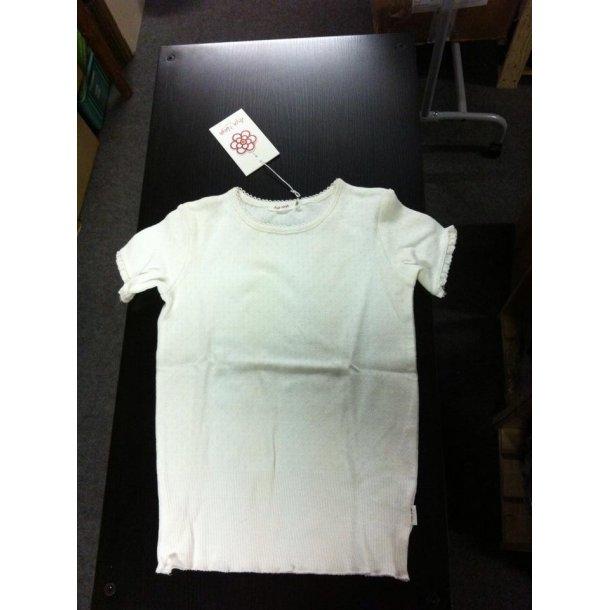 T-shirt mit Lochmuster in off-white
