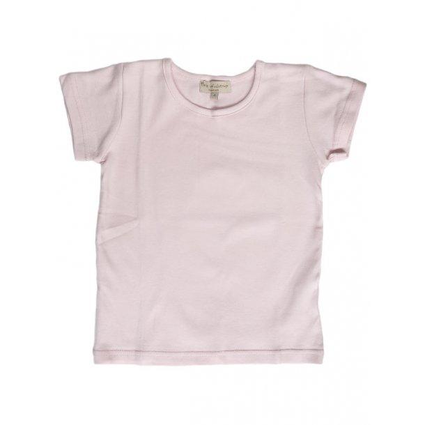 Hellrosa kurzärmeliges T-Shirt