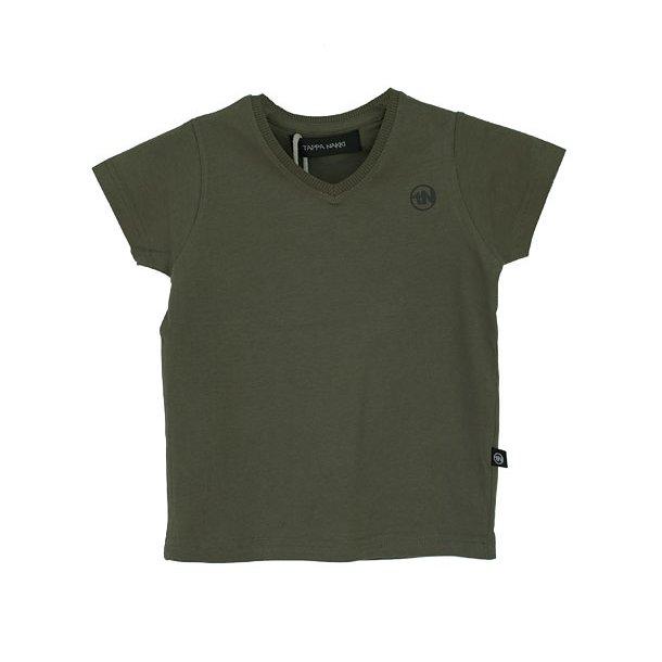 Olivfarbenes Basic T-Shirt
