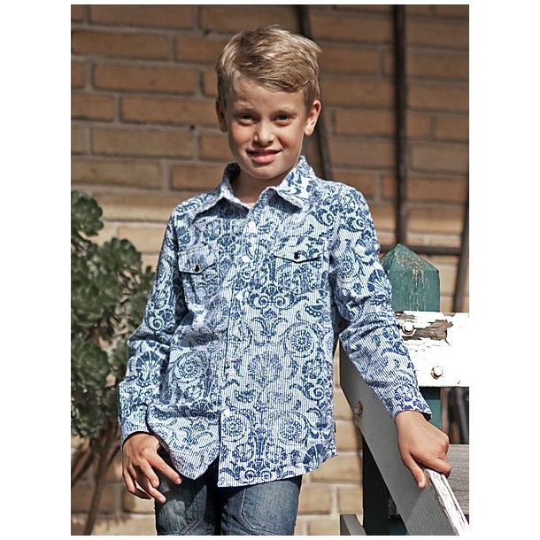 Seersucker Hemd Mit Print