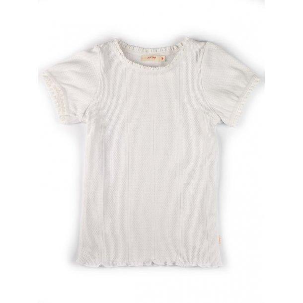 Süsses Lochmuster T-shirt,offwhite