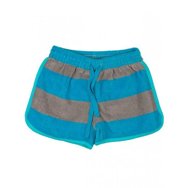 Frotté Bio-Shorts, blau-grau