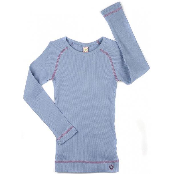 Shirt in lavendel Feinripp - ökologisch